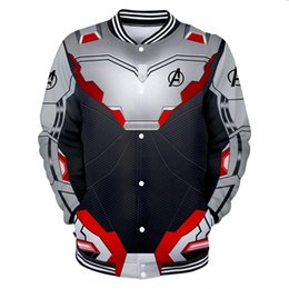 Organic Cotton Sportswear Australia - Leisure Baseball Jackets The Avengers 4 War clothes 3D printing Baseball Sweater cotton material Keep warm outdoors Leniency Sportswear