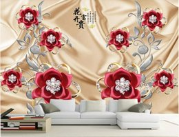 Static heat online shopping - 3d room wallpaper custom photo mural Upscale atmospheric luxury silk diamond jewelry background wall wall art canvas wallpaper for walls d