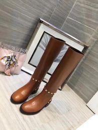 $enCountryForm.capitalKeyWord NZ - Designer 2018 Sexy Thick Heels Rivet brand F Shoes Fashion Women Round Toe Platform Autumn Winter Side Zipper Ankle