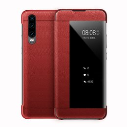 $enCountryForm.capitalKeyWord Australia - Luxury Business Style Flip Window Smart Phone Case Cover for Huawei P30 Pro P20 Pro P10 Plus Mate 20 Pro Phone Accessories