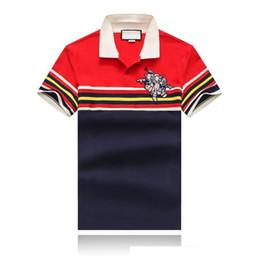 $enCountryForm.capitalKeyWord Australia - 19SS Summer New Men's Wear Designer T-shirt Front Red Yellow Blue White Striped Lapel Designer Polo T-shirt