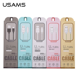 Wholesale USAMS Type C V A Charger Cables Cords for Samsung Xiaomi Huawei Cell Phones Data Sync Fast Charge Micro USB Cable for Mobile Phones