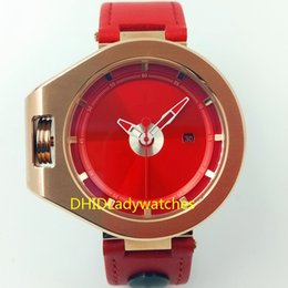 Red Unisex Luxury Watches Australia - mens designer watches Quartz electronic movement Auto date Red lettering Stainless steel case Fashion double pin buckle leather strap A470