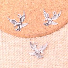 Silver Eagle Bracelet Australia - 150pcs Antique Silver Plated eagle hawk Charms Pendants fit Making Bracelet Necklace Jewelry Findings Jewelry Diy Craft 20*20mm