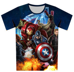 Super girl Shirt online shopping - 2019 Summer Girls Boys Avengers T shirt Baby Kids Cool d T shirt Children Super Hero Tops Baby Brand Tee For Y