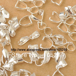 Pinch Bail Connectors Australia - Wholesale Free Shipping 50X Size-S 3.5X13.5MM 925 Sterling Silver Findings Bail Connector Bale Pinch Clasp 925 Silver Bail Pendant