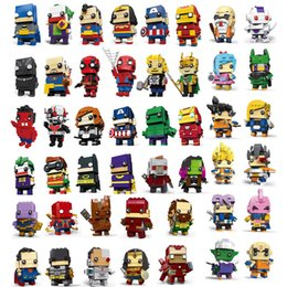 Marvel Blocks Figure Australia - 58 Designs anime figures toys marvel avengers spiderman dragon ball goku action figures building blocks anime figures kids toys DHL SS176