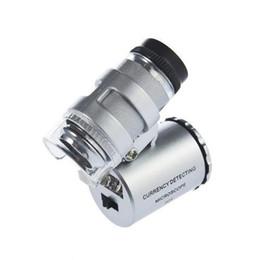 Microscopio tascabile microscopio tascabile 60x Lente di ingrandimento per gioielliere a LED Luce facile da trasportare con una lente di ingrandimento a660 in Offerta