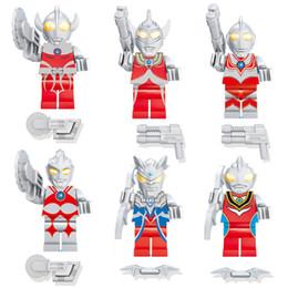 $enCountryForm.capitalKeyWord Australia - 6pcs Universe Giant Ultraman Jack Ace Taro Leo Ultra Seven Zoffy UItra Seven Mini Toy Figure Building Block Toy For Boy