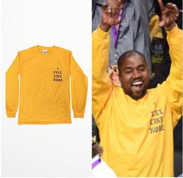 $enCountryForm.capitalKeyWord Australia - Hot Sales New Yellow T Shirt I Feel Like Kobe Last Game Tee Kanye T-Shirts Long Sleeve Lovers Streetwear