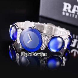 Swiss Quartz Battery Australia - Best Edition Joaillerie 150.8171.6.020 Silver Diamond Swiss Quartz Womens Watch Blue Gemstone Ladies Watches For Puretime Rdeb2