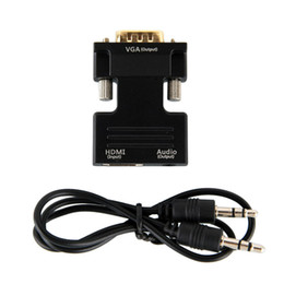 Hdmi convertors online shopping - 1pcs HDMI Female to VGA Male Converter Support P Signal Output with Audio Adapter Convertor Audio Cables for DVD TV