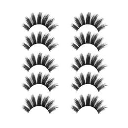 $enCountryForm.capitalKeyWord Australia - Sexy 3D 5 Pairs Voluminous False Eyelashes Soft Long Feather Long Wispy Cross Thick False Eyelashes Eye Makeup Extension Tools +