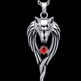 $enCountryForm.capitalKeyWord Australia - Fashion Punk Wolf Head Totem Pendants Statement Necklace Vintange Stainless Steel Choker For Men Jewelry Gifts Accessories