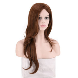$enCountryForm.capitalKeyWord UK - Light Brown Long Wave Hair Synthetic Wigs for Women