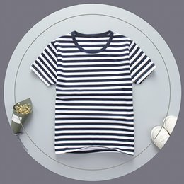 Kid Green Striped Shirt Australia - good quality Boys T Shirt Baby boy Clothes Kids Short Sleeve T-Shirts 100% Cotton striped Pattern boys T shirts for boys