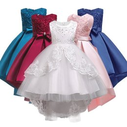 $enCountryForm.capitalKeyWord Australia - Girls Clothes Pearl Embroidery White Wedding Dress Children Christmas Clothing Kids Party Dress Baby Girls Princess Dress Y19061501