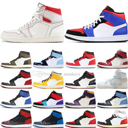 Genuine leather stockinGs online shopping - In Stock OG Travis Scotts Cactus Jack UNC Spiderman Mens Basketball shoes s Top Banned Bred Toe Men Sports Designer Sneakers trainers