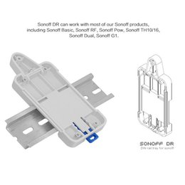 rail for camera NZ - Sonoff DR DIN Rail Tray Adjustable Mounted Rail Case Holder Solution for Sonoff Switch(Basic TH10 16 Pow Dual G1) GHMY