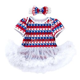 $enCountryForm.capitalKeyWord NZ - 0-2T USA 4TH JULE Kids Clothing Baby Clothes Sets Romper TUTU Yarn Boho Special Occasionc Two-piece Dress Girls Birthday Pinafore Dress