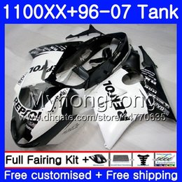 Honda Cbr Fairing Repsol Blue White Australia - +Tank For HONDA Blackbird CBR 1100XX CBR1100 XX Repsol White HOT 02 03 04 05 06 07 271HM.29 CBR1100XX 2002 2003 2004 2005 2006 2007 Fairings