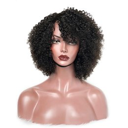 lace wigs african american hair Australia - African American Human Hair Wigs Curly Virgin Brazilian Glueless Full Lace Front Wigs Kinky Curly Virgin Hair Wigs For Women