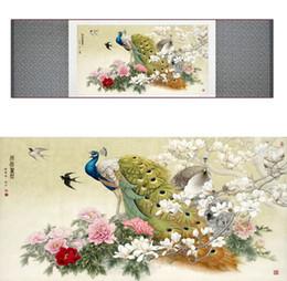 $enCountryForm.capitalKeyWord Australia - Chinese Traditional Art Painting silk scroll Birds In The Water Peacock Digital printing Painting