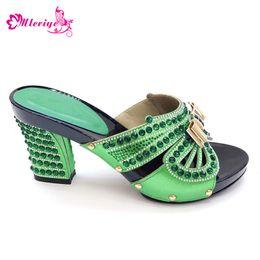 $enCountryForm.capitalKeyWord Australia - 2019 New Italian Ladies Sexy High Heels Pumps Green PU Leather Design Ladies Women Pumps African Sandal Shoe for Parties Wedding