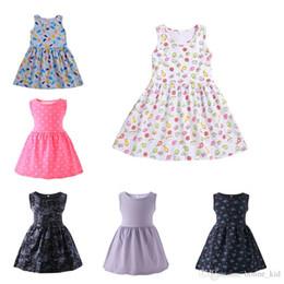 $enCountryForm.capitalKeyWord NZ - Brief kids girls princess Tutu dresses sleeveless sundress flower home dress party pageant dresses cute girls clothes five colors