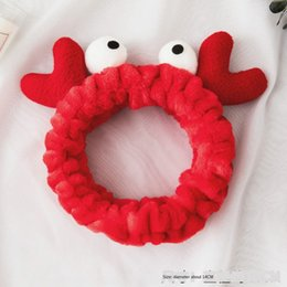 korean eyes makeup NZ - Korean antler big eye thickened face wash facial mask makeup Facial mask hair band Simple Sweet headwear plush hair band