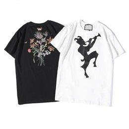 471b3af147 Mens Designer Tshirt Fashion New Tshirts GG Hip Hop Street T-shirt Cotton  Luxury T-shirts Big Flowers Printed tees Summer Wild T Shirt