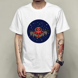 130611ff1f855 Night bat t shirt Deadpool starry fly short sleeve tees Cool singlet  Leisure clothing Elastic cotton Tshirt