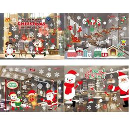 $enCountryForm.capitalKeyWord Australia - Christmas Stickers Santa Claus Elk Snow Pattern Home Wall Glass Decor New Christmas Wall Stickers