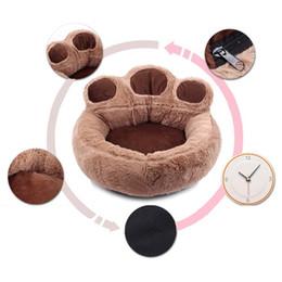 $enCountryForm.capitalKeyWord Australia - Bear Design Winter Warm Dog Puppy Soft Pad Bed House Nest Washable Small Dog Pet Cat Mat Cushion Kennels