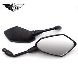 dirt bike quads atv NZ - Cool BKBAT 8mm Rearview Rear View Left + Right Side Mirror For 4 Wheeler ATV Quad Pit Dirt Motor Bike Moped Scooter Motorcycle
