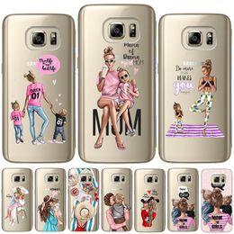 $enCountryForm.capitalKeyWord Australia - Fashion Black Brown Hair Baby Mom Girl Queen Soft TPU Cover For Samsung Galaxy S6 S7 Edge S8 S9 Plus S10 Plus E Note 8 9 Case