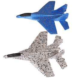 screw gear UK - 1pc Diy Kids Toys Hand Throwing Model Airplane Foam Aircraft Planes Toys For Children