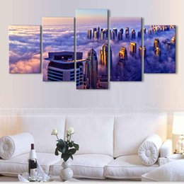 $enCountryForm.capitalKeyWord Australia - 5 pieces high-definition print the view of the city canvas painting poster and wall art living room picture CZFJ5-002