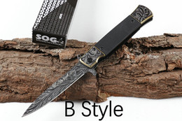 sog knife tool 2019 - 2019 SOG KS931A Survival gear Assisted Fast Open Folding Tactical Knife 56HRC G10 Handle Outdoor EDC Pocket Survival Too