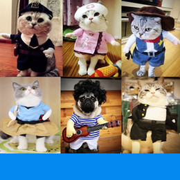 wholesale pirate dresses NZ - Funny Cat Clothes Pirate Suit Clothes For Cat Costume Clothing Corsair Halloween Dressing Up Party Costume Suit 31A1