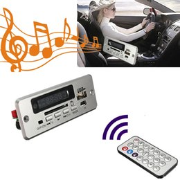 $enCountryForm.capitalKeyWord Australia - 12V Wireless USB Bluetooth Audio Decoder Aux Card For Car FM Radio Led MP3 Player Signal Module Board Digital