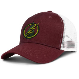 Red Flashing Ball UK - Green Arrow and Flash logo burgundy mens and womens trucker cap ball styles designer sports hats
