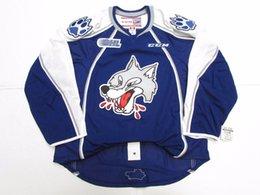 907c069f5 Cheap custom SUDBURY WOLVES OHL PRO CCM HOCKEY JERSEY stitch add any number  any name Mens Hockey Jersey XS-5XL