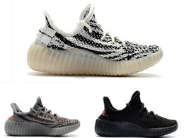 Infant zebra shoes online shopping - Kanye Zebra Infant Kids Boys running shoes Bred Beluga toddlers athletic SPORT Trainers Children sneakers Cream White