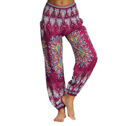 $enCountryForm.capitalKeyWord UK - Men Women Casual Loose Hippy Yoga Trousers Baggy Boho Aladdin High Waist Outdoor Yoga Pants Plus Size Loose Print Bloomers
