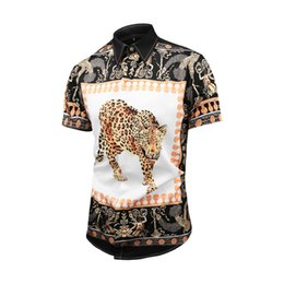 $enCountryForm.capitalKeyWord Australia - Fashion-Brand new Italian brand design luxury men's casual short-sleeved shirt fashion designer mixed color embroidered shirt Medusa shirt