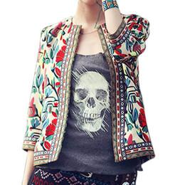 $enCountryForm.capitalKeyWord Australia - XXXXL Plus Size Jacket Outerwear Women Retro Vintage Ethnic Floral Print Embroidered Short Jacket Slim Coat Chaquetas Mujer