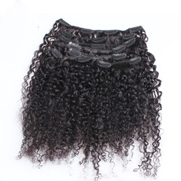 $enCountryForm.capitalKeyWord UK - Kinky curly clip in hair extensions african american clip in human hair extensions 100g mongolian afro kinky curly clip ins Hair