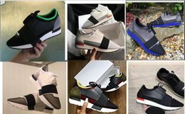 Cheap original branded shoes online shopping - Popular Brand High Quality Race Runner Shoes Casual Man Woman Fashion Blue Red Bottom Cheap Sneaker Mesh Trainer Shoes Original Box