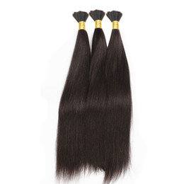 brazilian hair for braids UK - Silky Straight Human Hair Bulk For Braiding 100% Human Hair Natural Black Bulk Braiding Human Hair